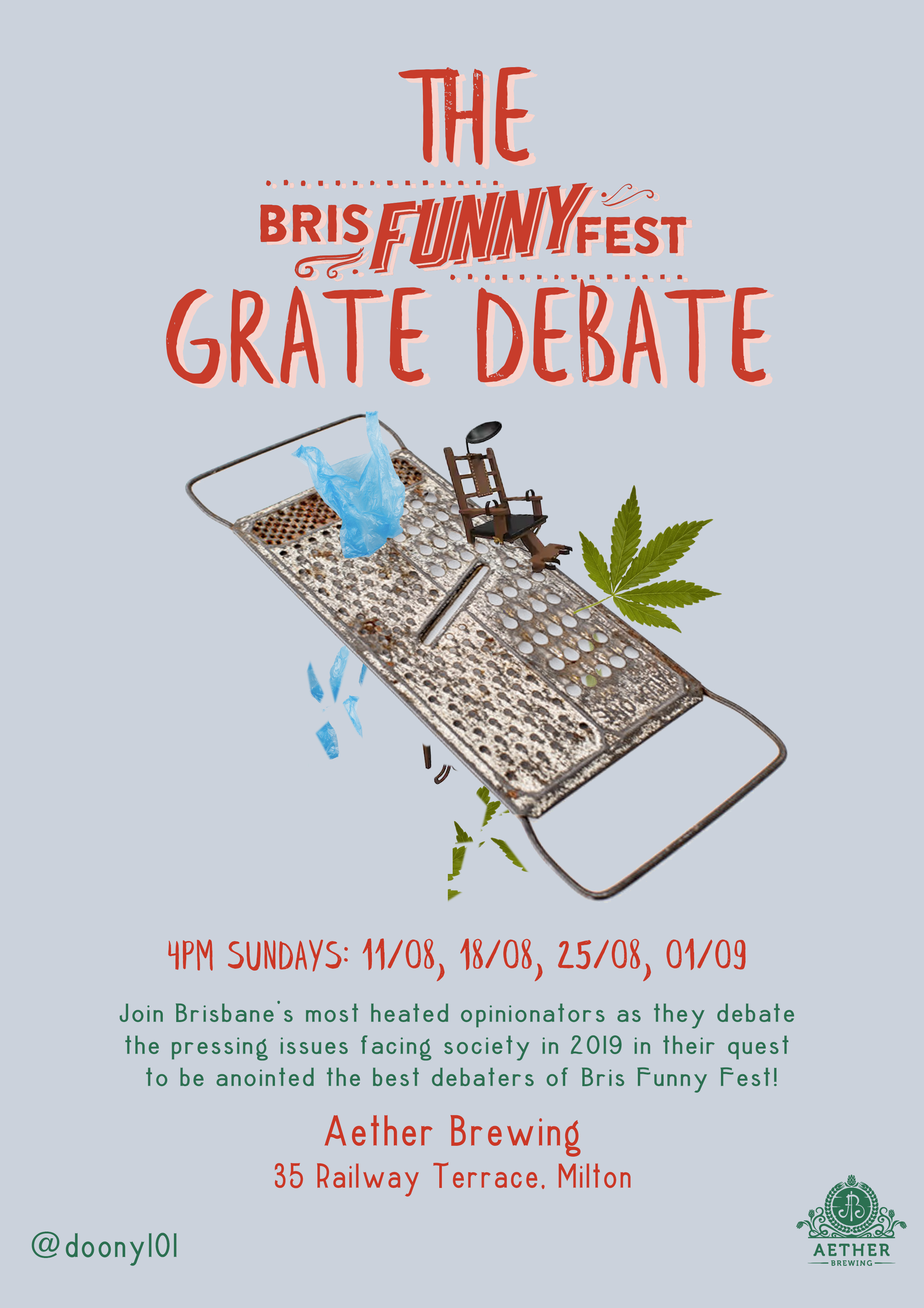 The Grate Debate, performed by Doony, Andrew Dawson + Brisbanes best opionionators!